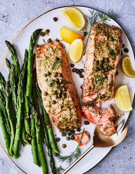 Mustard Salmon with Dill