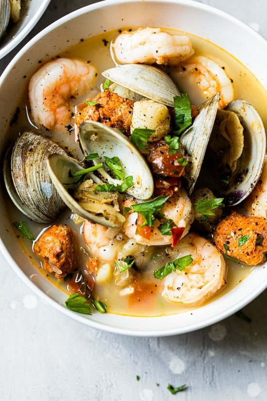 seafood stew with clams
