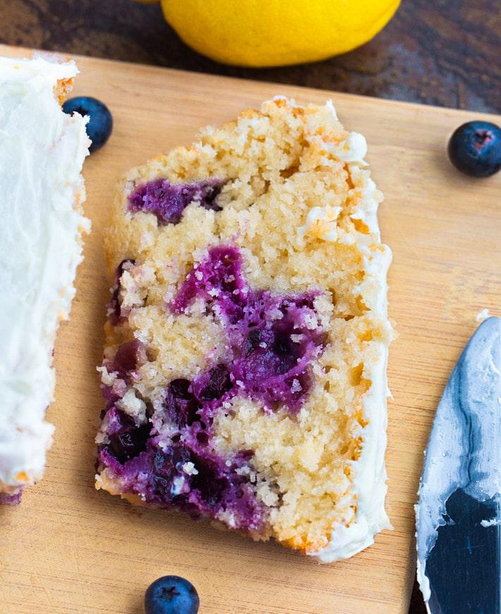 Vegan Blueberry Bread Breakfast