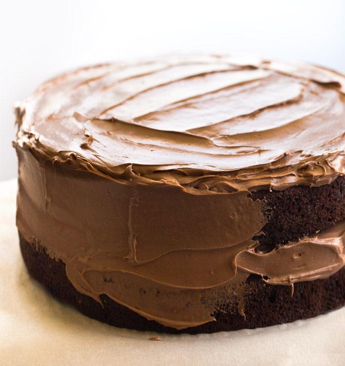 Chocolate Vegan Double Layer Cake