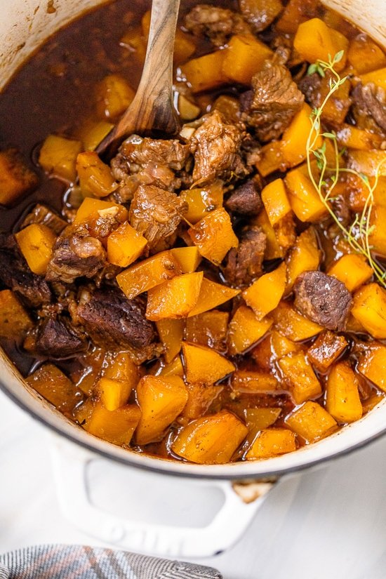 Beef Stew with Winter Squash