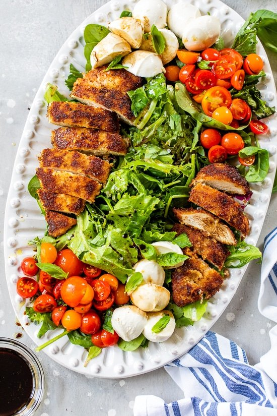 Chicken Cutlet Caprese Platter