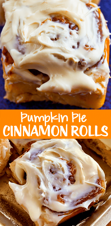 Homemade Pumpkin Pie Cinnamon Rolls