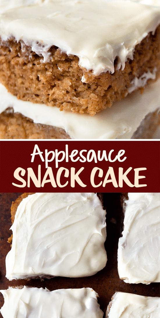 Healthy Applesauce Snack Cake Recipe