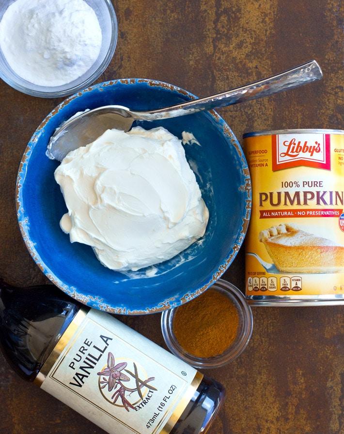 Homemade Pumpkin Dip Ingredients
