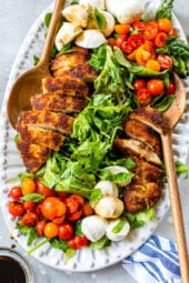 Chicken Cutlet Caprese Salad